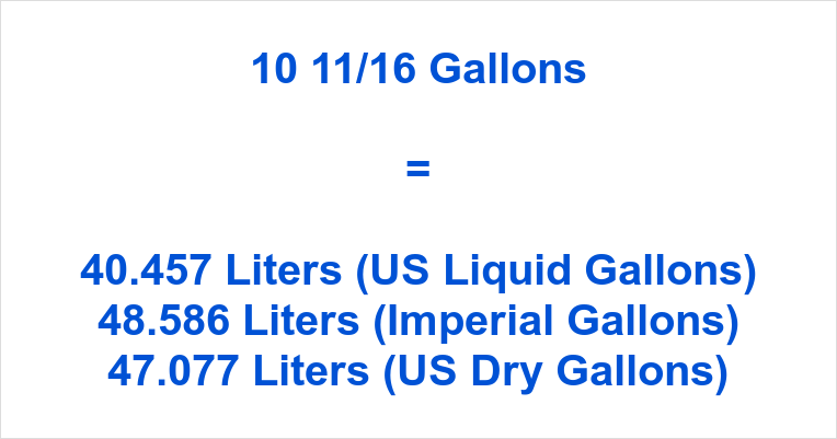 10 11/16 Gallons to Liters