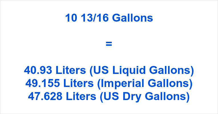 10 13/16 Gallons to Liters